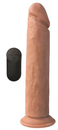 Vibrerende XL Dildo Met Zuignap - Huidskleur