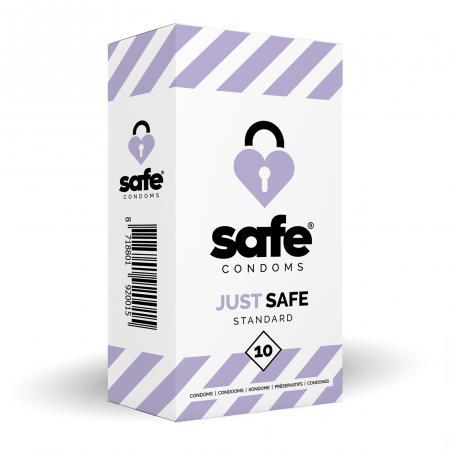 SAFE - Condooms Met Siliconen Glijmiddel - Standaard - 10 stuks