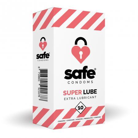 SAFE - Condooms Met Extra Glijmiddel - Superlube - 10 stuks