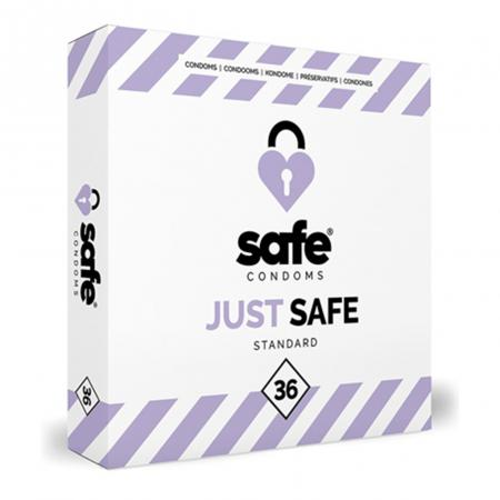 SAFE - Condooms Met Siliconen Glijmiddel - Standaard - 36 stuks