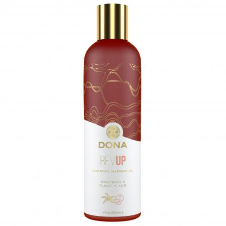 Dona - Essential Vegan Massage Olie Rev Up Mandarijn & Ylang Ylang