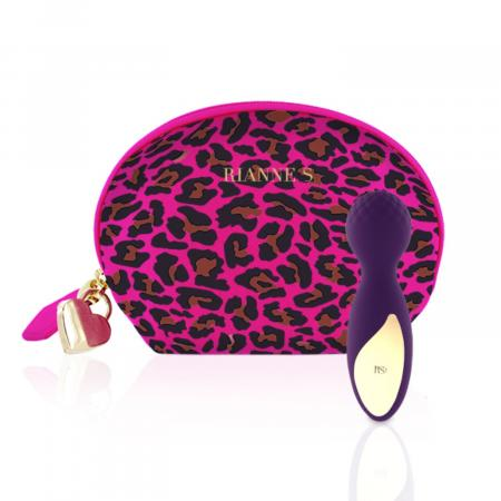 RS - Essentials - Lovely Leopard Mini Wandvibrator - Paars