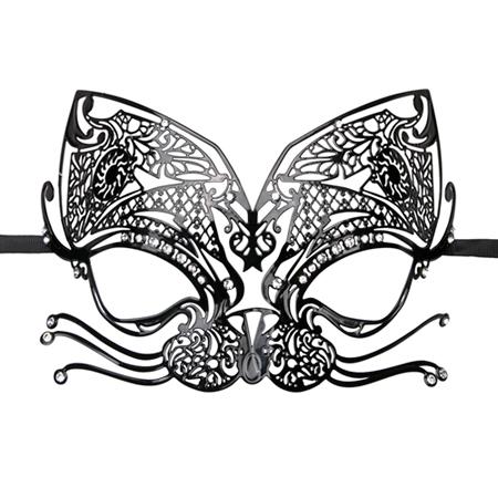 Zwart metalen oogmasker