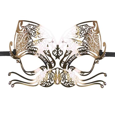 Gouden poezen oogmasker