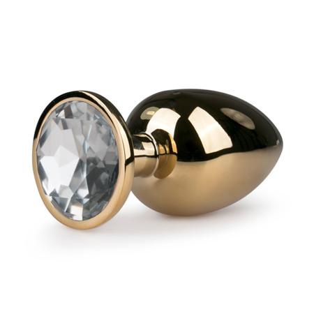 Analplug aus Metall mit schickem Zierstein - Goldfarbig