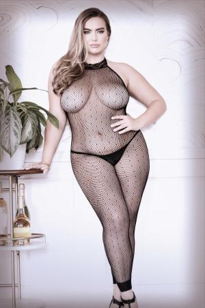 Feelin' Myself Catsuit Met Halternek - Curvy