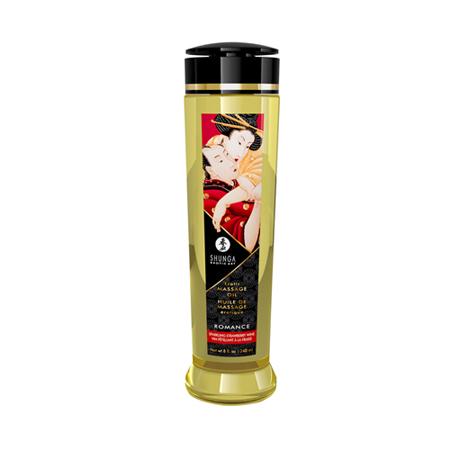 Shunga - Romance/Sparkling Strawberry Wine Massageöl - 240 ml