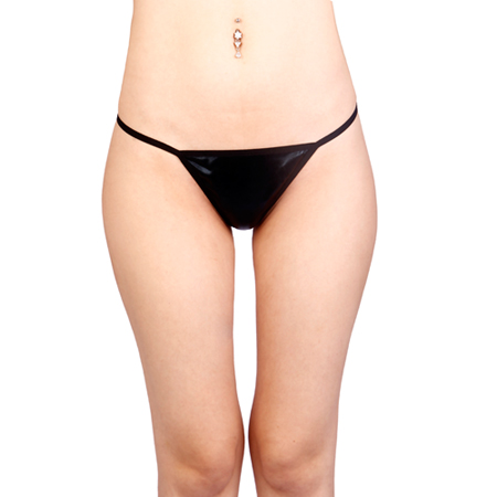Vixson Basic Wetlook G-string - Zwart