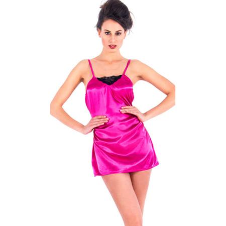 Vixson Satijnen Nachtjurkje - Roze