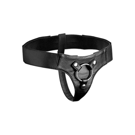 Strap-on Harness aus Leder in Schwarz