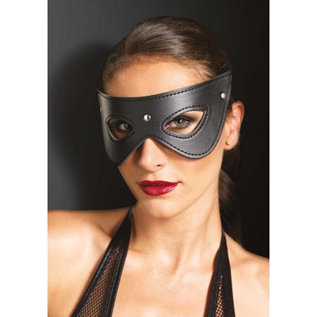 Maske aus Kunstleder mit Nieten