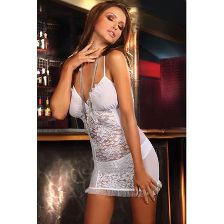 Wit kanten jurkje Nadiya