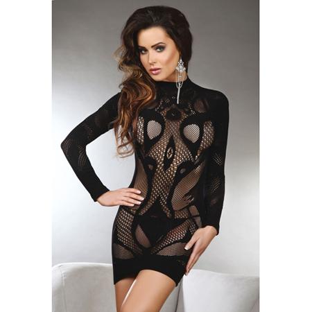Elianna Sexy Open Jurkje - Zwart