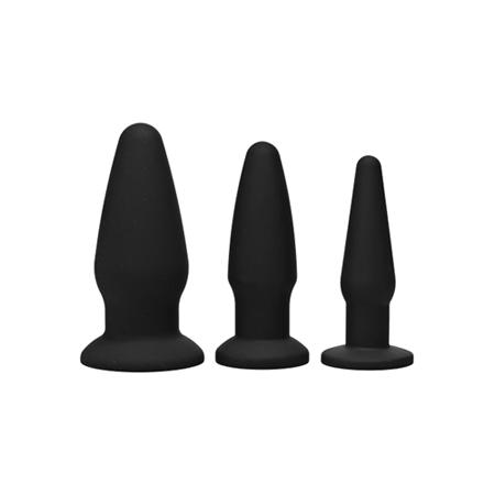 Trinity Buttplug Set - Zwart