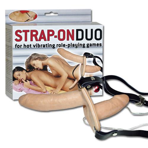 Dubbel Vibrerende Strap-on