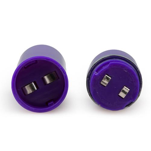 Dubbele Realistische Vibrator - Paars