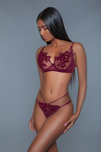 Evangeline BH Set - Bordeaux