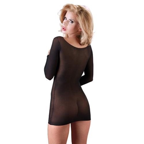 Mini jurk met lange mouwen S-L