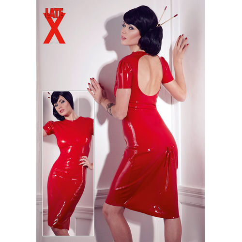 Licht transparante latex jurk