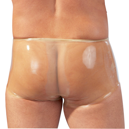 Latex Boxershorts mit Penishülle - Transparent