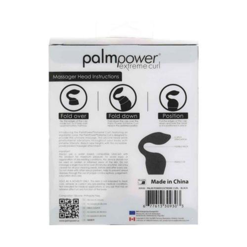 Palm Power - Extreme Curl Siliconen Opzetstuk - Zwart