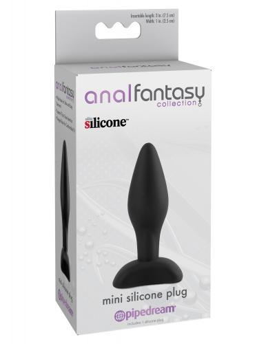 Mini Siliconen Buttplug - Zwart