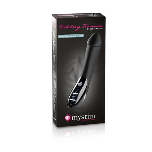 Mystim - Tickling Truman E-Stim Vibrator - Black Edition