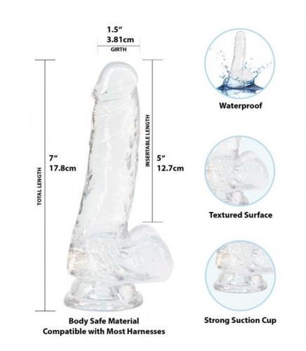 Crystal Addiction - Transparante Dildo - 18 cm