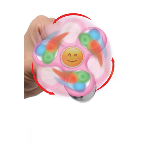 Light Up Emoji Fidget Spinner Buttplug