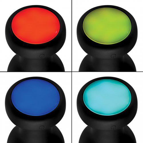 Vibrerende Buttplug Met LED-Licht - Groot