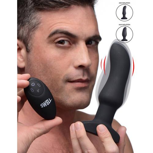 Opblaasbare en Vibrerende Prostaat Buttplug