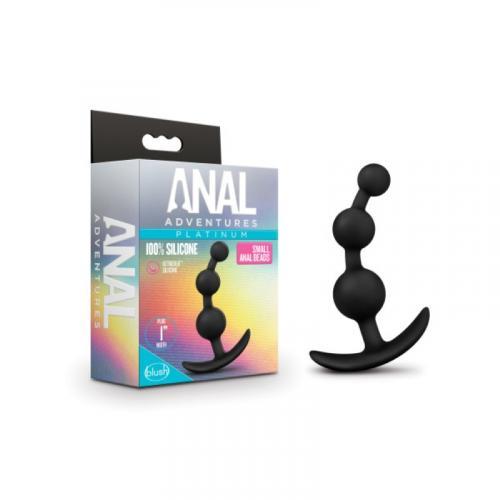 Anal Adventures Platinum - Anaal Plug Met Kralen - Small