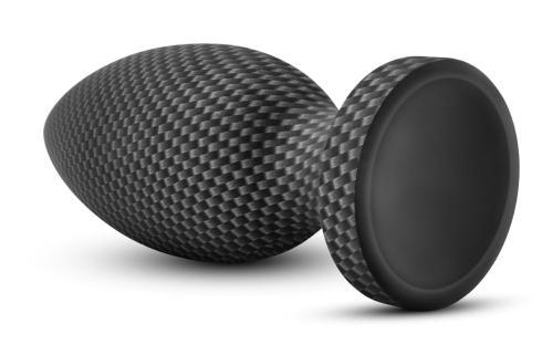 Spark - Siliconen Anaal Plug Carbon Fiber - Medium