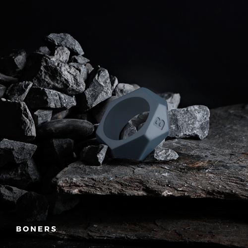 Boners Cockring Met Diamant Design - Grijs