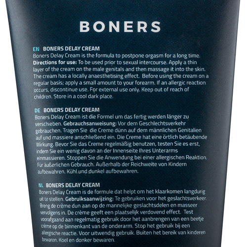 Boners Orgasmevertragende Crème - 100 ml
