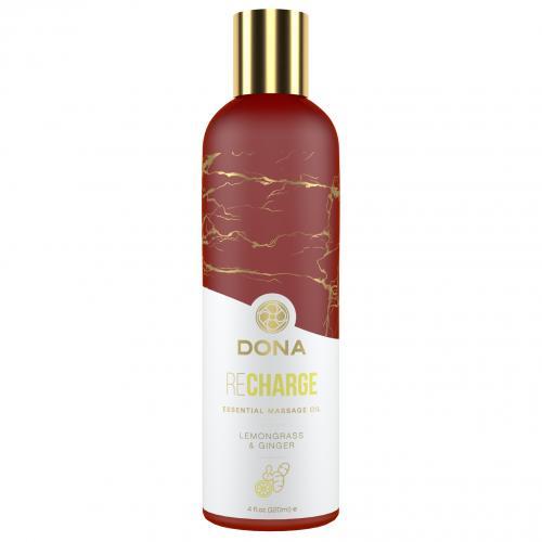 Dona - Essential Vegan Massage Olie Recharge Citroengras & Gember