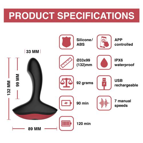 Magic Motion - Solstice App Controlled Prostaat Vibrator