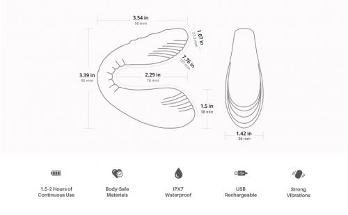 Lovense Quake G-spot Vibrator App Controlled - Roze