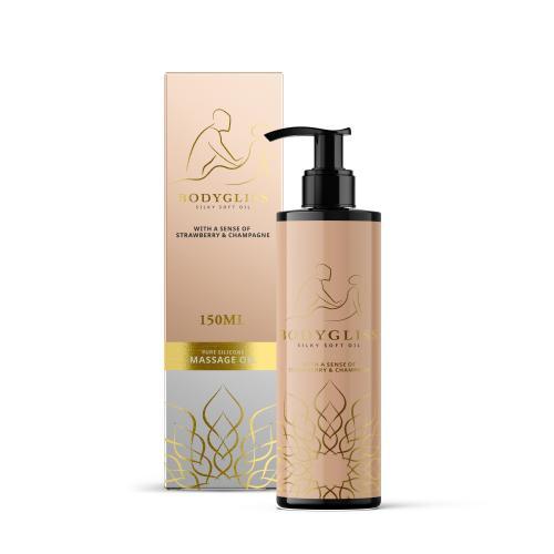 BodyGliss - Massage Olie En Glijmiddel in 1 Aardbei & Champagne - 150 ml