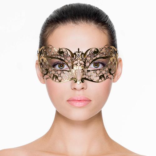 Gouden oogmasker met ruit