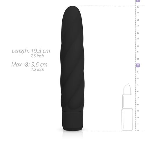 Zwarte siliconen vibrator