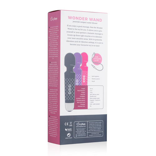 EasyToys Mini Wand Vibrator - Roze