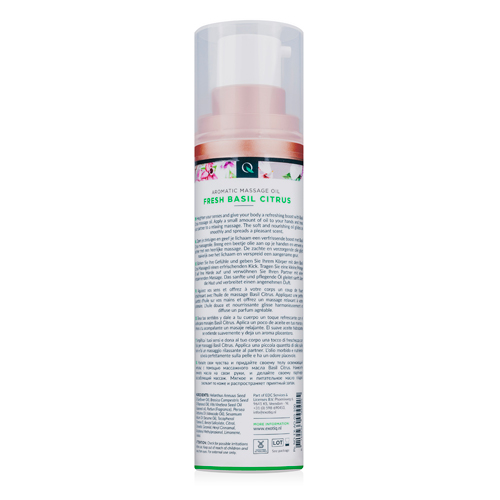 Exotiq Massageolie Basil Citrus - 100 ml
