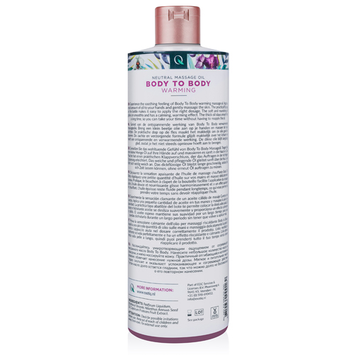 Exotiq Body To Body Verwarmende Massageolie - 500 ml