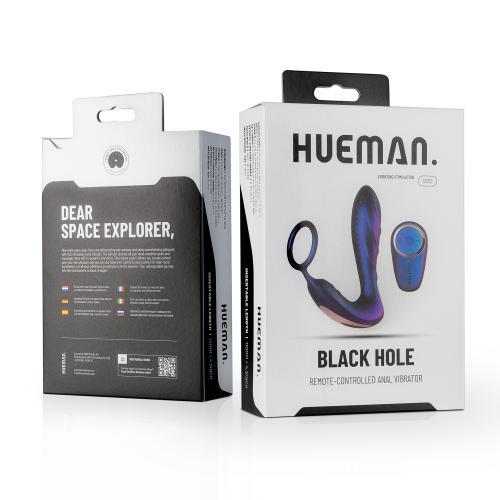 Hueman - Black Hole Anaal Vibrator Met Cockring