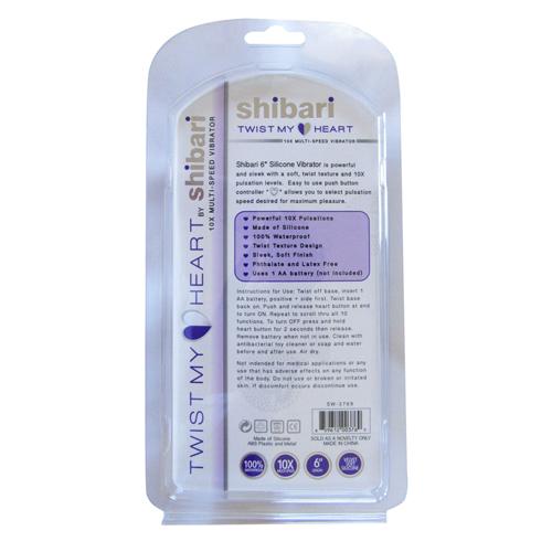 Shibari Twist My Heart Vibrator - Purple image .5