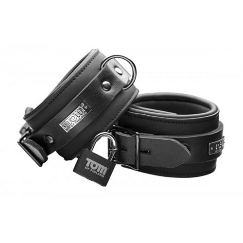 Tom of Finland Neoprene Ankle cuffs w/ locks image