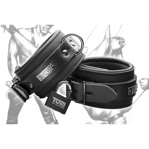 Tom of Finland Neoprene Ankle cuffs w/ locks image .2