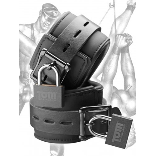 Tom of Finland Neopreen Handboeien met slot