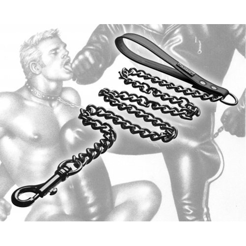 Tom Of Finland Neoprene Gun Metal Leash image .5